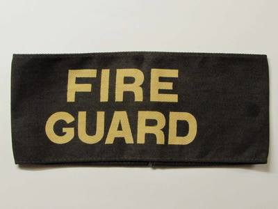 WW2 Fire Guard armband - white lettering.