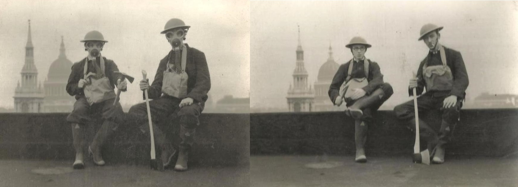 WW2 London Fire Watchers With St. Paul's Cathedral