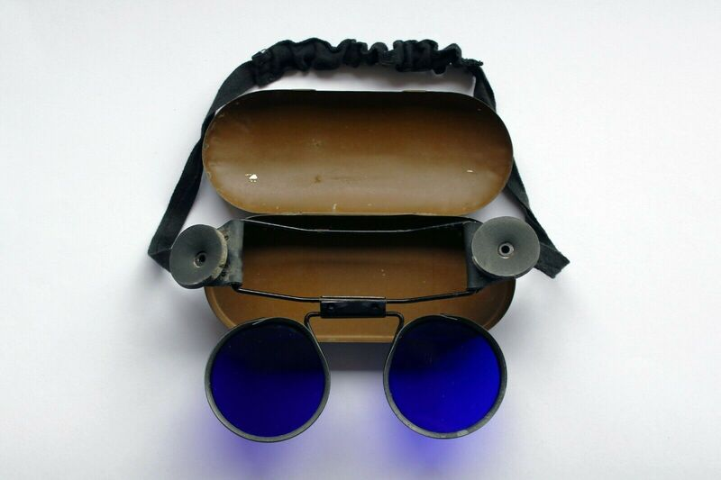 WW2 Tinted Fire Fighters Googles With Tin