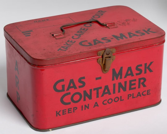WW2 Gas Mask Container.