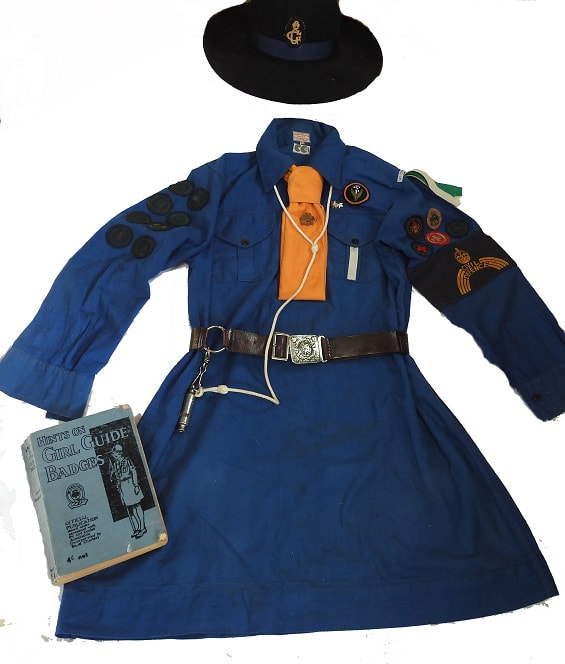 Girl Guide Uniform from 1942/43, utility marked