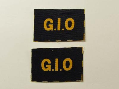 Gas Identification Officer (G.I.O.) Shoulder Patches (printed)