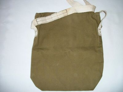 WW2 Civilian Duty Respirator Gas Mask Carrier (rear).