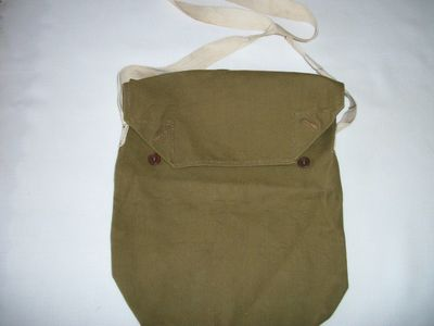 WW2 Civilian Duty Respirator Gas Mask Carrier (front).