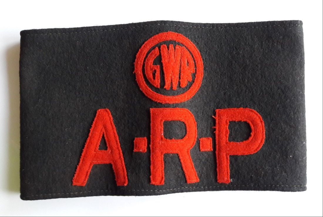 Fake WW2 Great Western Railway GWR ARP Armband
