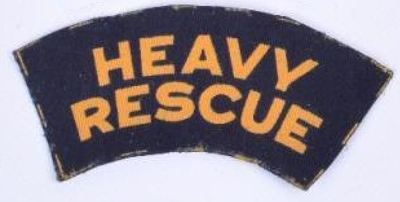 WW2 Civil Defence Heavy Rescue shoulder title (printed).