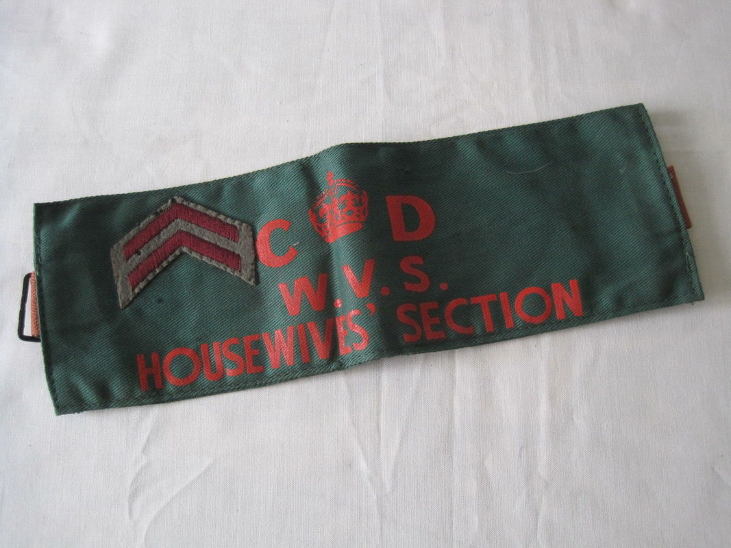 Rare WW2 Civil Defence WVS Housewives Section Armband