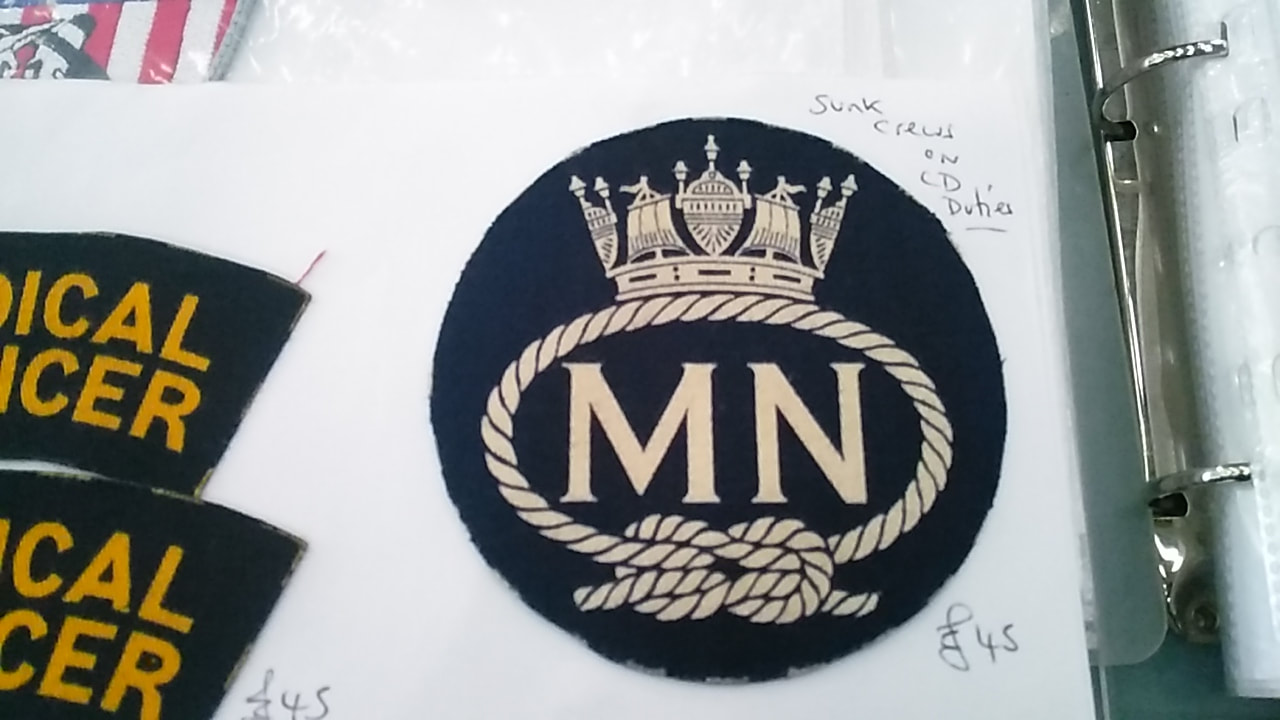 Merchant Navy Printed Badge For Wear On Rescue Battledress.