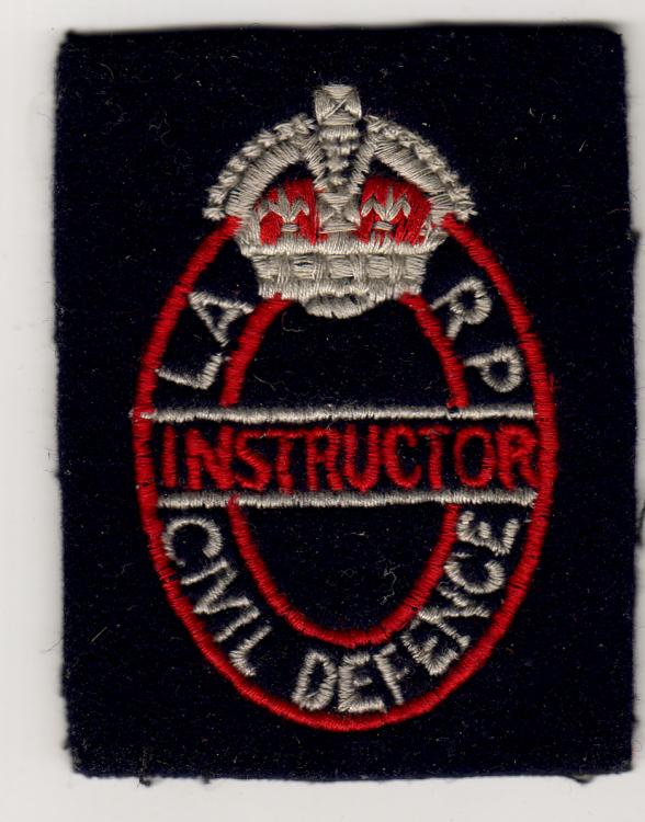 LARP -  Local Air Raid Precautions (locally trained silver badge)