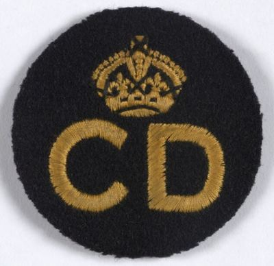 Standard ARP Pattern 75 CD Civil Defence Breast Badge (A).