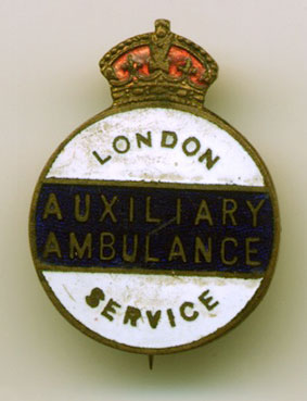 Circular London Auxiliary Ambulance Service (LAAS) Enamel Badge