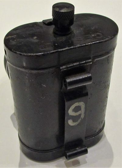 Standard issue WW2 ARP torch (rear).