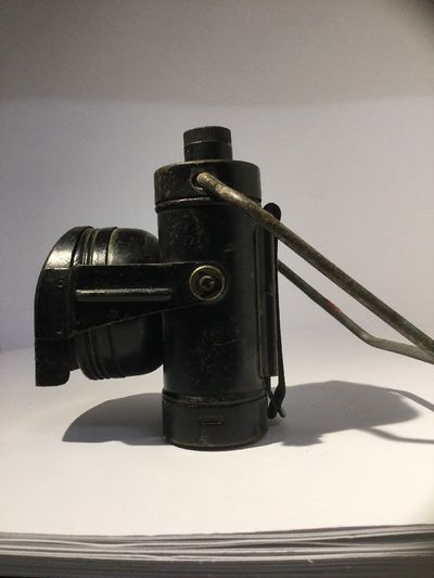 WW2 civil defence Lamp Electric No.1 (side view).