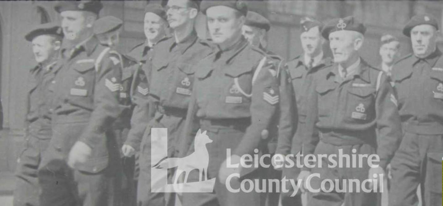WW2 Parade of Leicester Civil Defence Personnel.