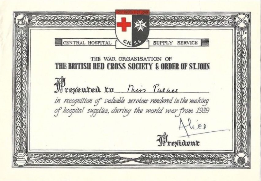 Certificate For Service In Central Hospital Supply Service (CHSS)