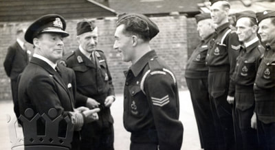Admiral Evans inspects a Light Rescue squad in Lewisham.
