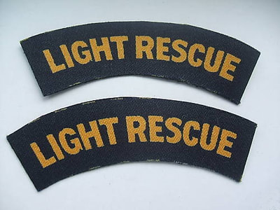 WW2 Civil Defence Light Rescue Shoulder Title (Printed)