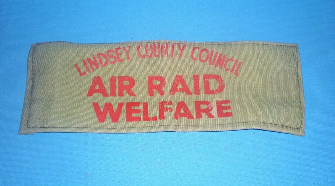Lindsey County Council (Lincolnshire) Air Raid Welfare Armband
