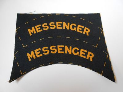 WW2 Civil Defence Messenger Shoulder Title (Printed)