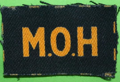 WW2 Civil Defence MoH (ARP Pattern 129) - Ministry of Health shoulder title.