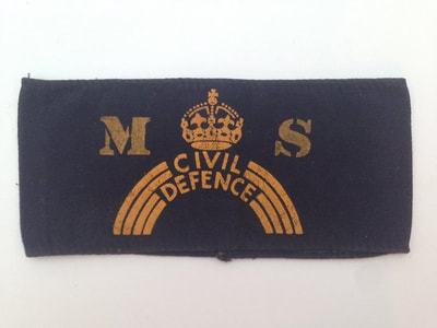 Civil Defence MS Armband -  Possibly Messenger Service (Blacked Out Britain)