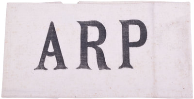 Early war printed ARP (Air Raid Precautions) armband (elasticated)