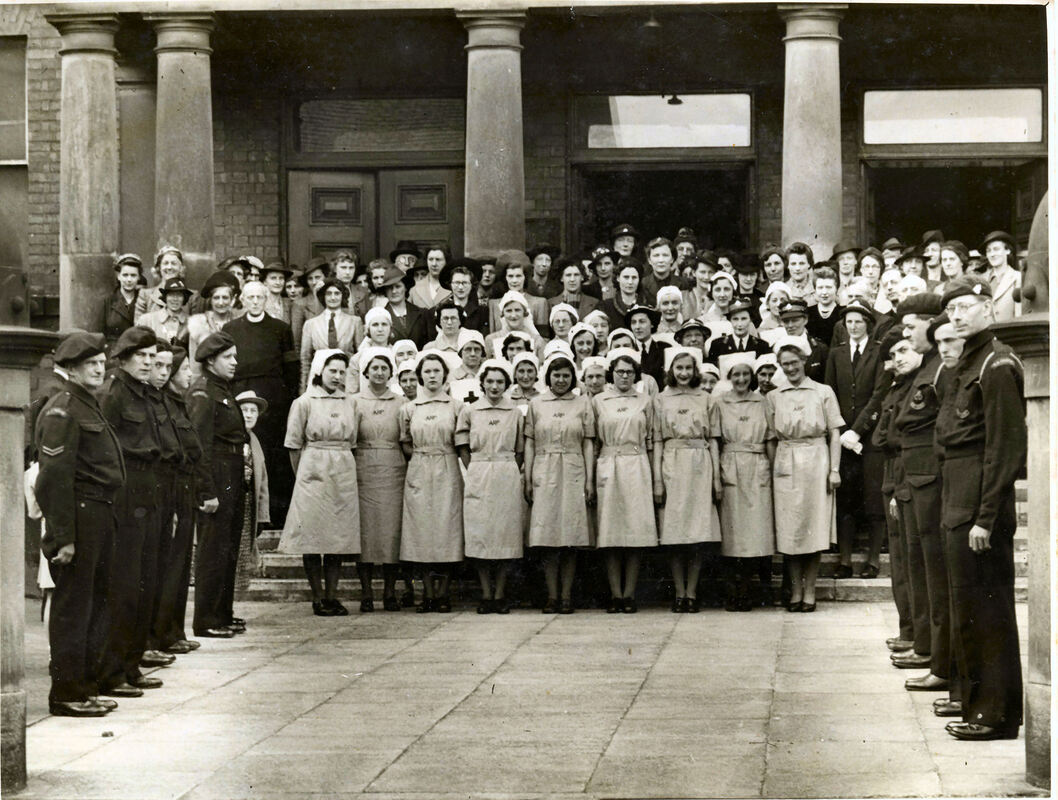 Late War Portrait From Pocklington - Civil Defence & Nursing Personnel