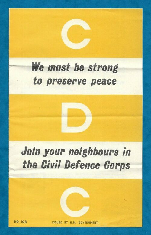 Recruitment leaflet for the Civil Defence Corps