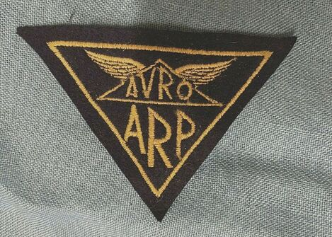 Fake embroidered WW2 AVRO factory badge