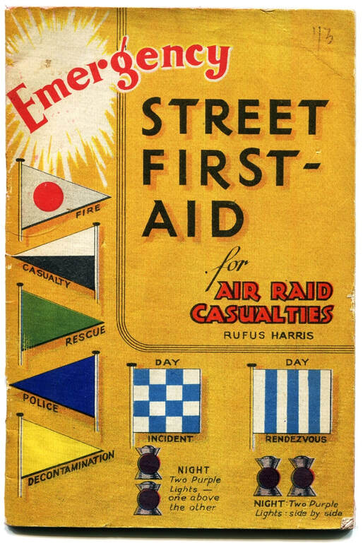 WW2 Civil Defence Service Incident Post Pennants show on magazine cover