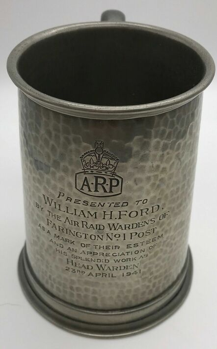 ARP Head Warden Presentation Tankard