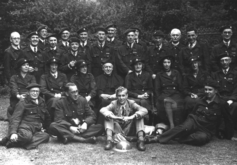 Early War ARP Wardens Group Photo