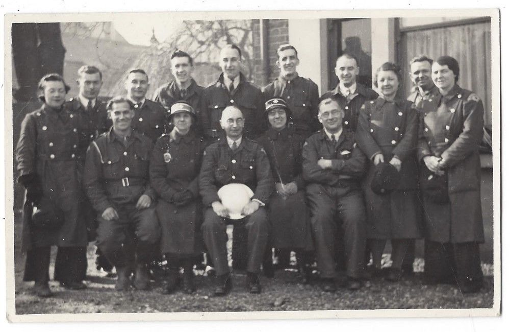 WW2 ARP and Red Cross Personnel Photograph