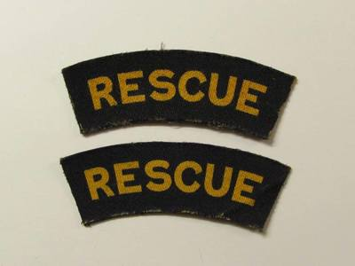 WW2 Civil Defence Rescue Shoulder Title (Printed)