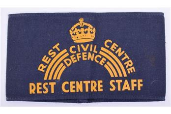 WW2 Civil Defence armband for Rest Centre staff.