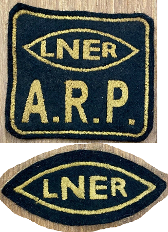 Fake WW2 LNER (London North Eastern Railway) Railway ARP Patches, Badges, Insignia