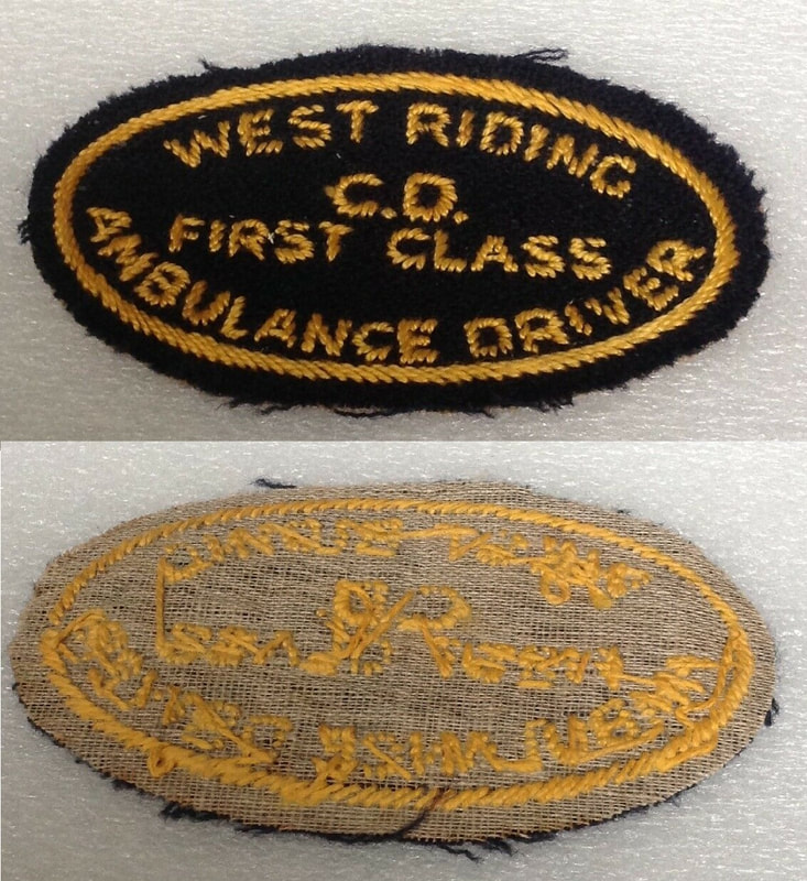 WW2 West Riding CD First Class Ambulance Driver Badge