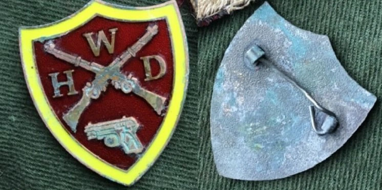 Fake WW2 Women's Home Defence enamel badge