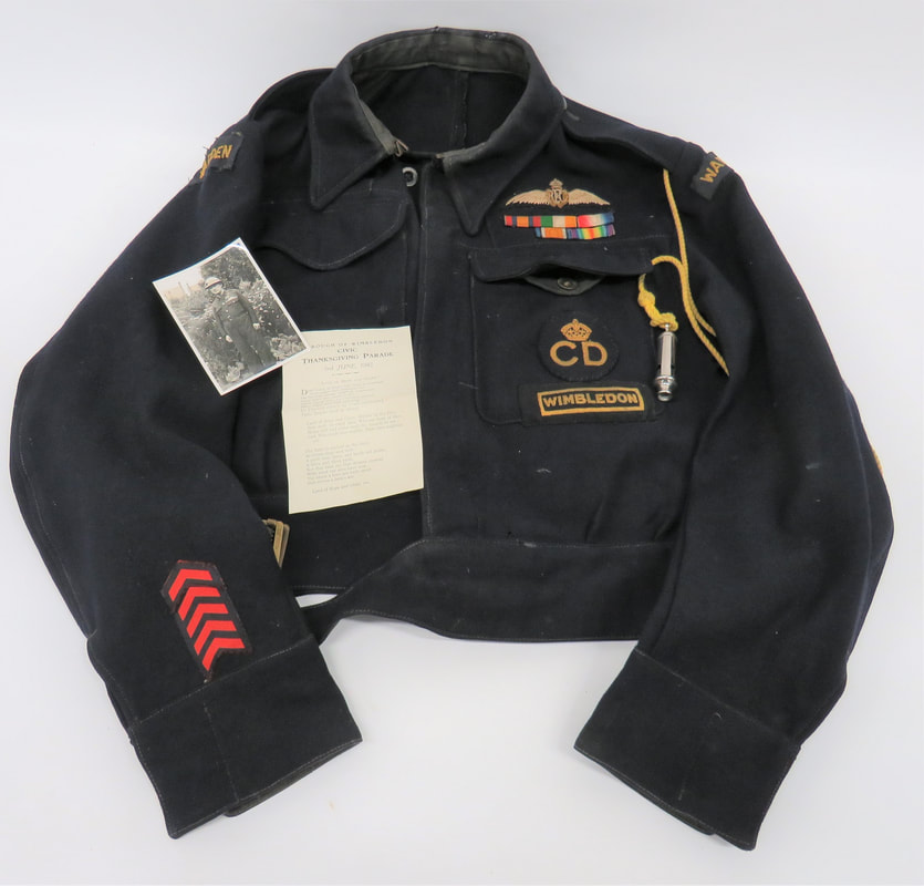 Royal Flying Corps (RFC) Wings on WW2 Warden's Battledress