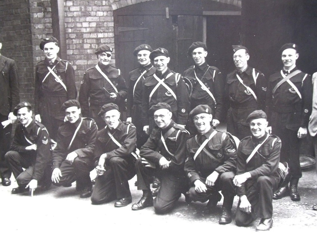 Late WW2 Civil Defence Group Photo