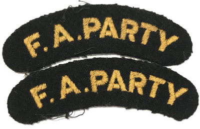 WW2 Civil Defence F.A. Party Shoulder Title (Woven)