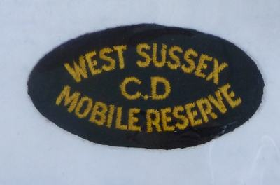 West Sussex Civil Defence Mobile Reserve Badge